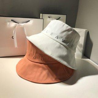 【大特価】6色展開 ロゴデザイン 無地 シンプル エンボス加工 立体刺繍ロゴ バケットハット バケハ 帽子 インポート 通販