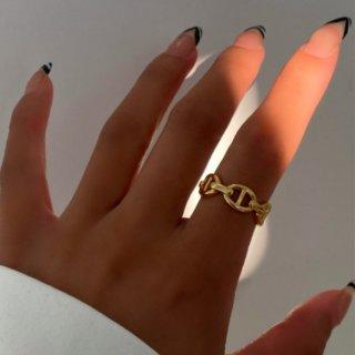 【大特価】ゴールド ビンテージ風デザイン オープンリング 指輪 レトロ リング インポートアクセサリー 通販