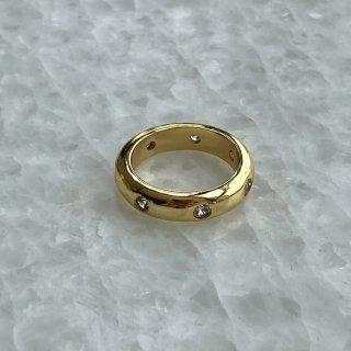 【大特価】ゴールド ラインストーン シンプルリング リング 指輪 天然石リング インポートアクセサリー 通販