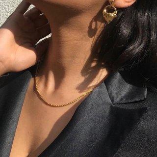 【大特価】ゴールド 長さとチェーン太さが選べる ツイストチェーンネックレス チェーンネックレス  インポート 通販