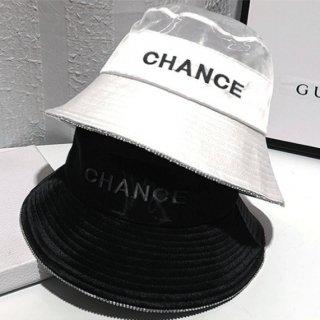 【大特価】2色展開 フロントロゴ CHANCE バケットハット バケハ メッシュ シースルー 帽子 インポート 通販