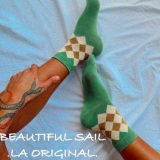 【大特価】グリーン アーガイル柄 市松模様 ダイヤ柄 ショートソックス ソックス 靴下 インポート 通販