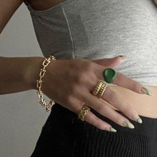 【大特価】ゴールド 5mm幅 ゴールドリング チェーンデザインリング チェーンリング  シンプルリング 指輪 インポート 通販