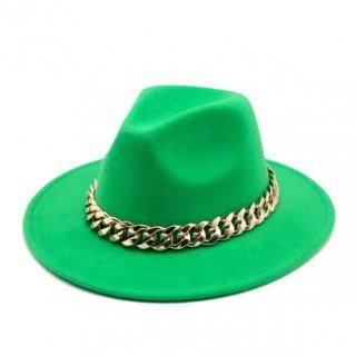 【大特価】21色展開 無地 シンプル チャンキーチェーン 中折れハット フェルトハット ハット 帽子 韓国 インポート 通販
