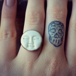 Lux divine ラックスディバイン シンプル サンバースト ゴールド シルバー ムーンフェイス リング 指輪
