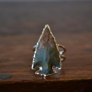 lux divineラックスディバイン アゲート メノウ パワーストーン アローヘッド 天然石 シルバー リング 指輪