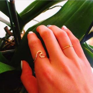 ウエーブ 波 wave 華奢 リング 指輪 シンプル ハワイ HAWAII ビーチジュエリー