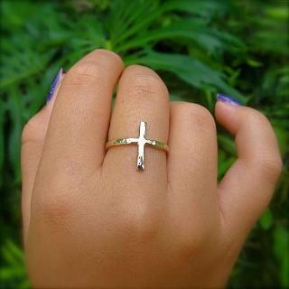 クロス 十字架 華奢 リング 指輪 シンプル ハワイ HAWAII ビーチジュエリー