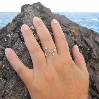 love レター 華奢 リング 指輪 シンプル ハワイ HAWAII ビーチジュエリー