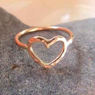 2色展開 ハート 華奢 リング 指輪 シンプル ハワイ HAWAII ビーチジュエリー