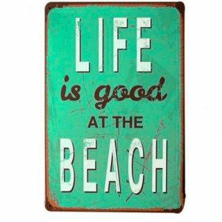 LIFE IS BEACH サイン 看板 オブジェ ビーチインテリア 海を感じるインテリア