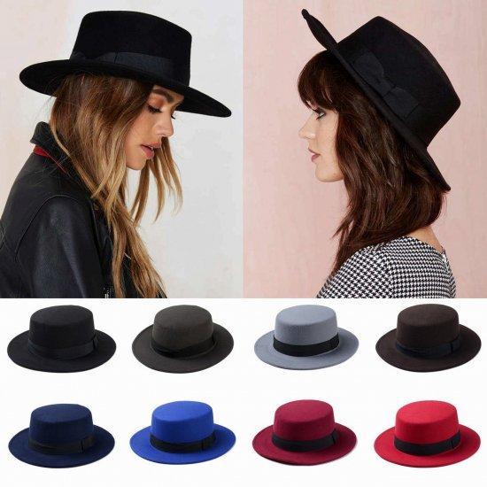 15色展開 フェルト ボーラーハット シンプル バイカラー カンカン帽 ハット 帽子
