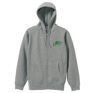 SF WORD ZIP HOODY (Grey/10.0oz.)