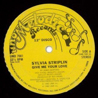 Sylvia Striplin - Give Me Your Love (12) Side A: (B) / B: (G)