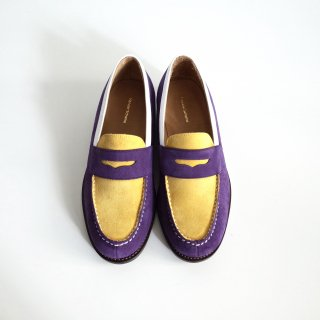hender scheme typical color exception loafer-mens/ purple×yellow
