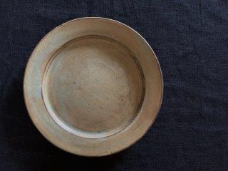 町田裕也 モスグリーンのリム皿 6寸