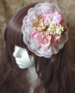 始まりのヘッドドレス - No,004(ペールピンク×ピンクオフ)