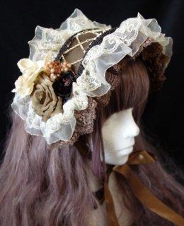 コルセットシリーズヘッドドレス(ブラウン生成)