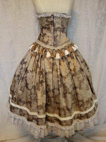 『カプチーノ』タッセルコルセットドレス