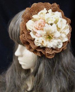 始まりのヘッドドレス - No,0010(ブラウン×クリームホワイト)