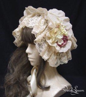 童話少女のためのヘッドドレス(生成×ピンク)