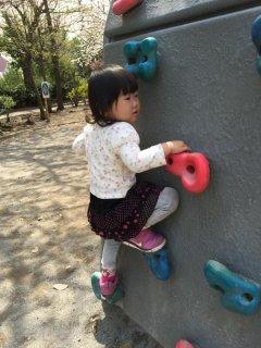 1歳11ヵ月・・・公園でアスレチックをしました♪