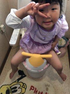 2歳♪ トイレが出来るようになりました(´∀`)