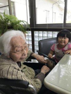 3歳♪ ひいおばあちゃんに会いに行きました(*^_^*)