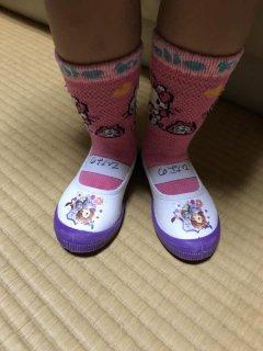 3歳♪ 初めての上靴を買いましたが、大変でした…