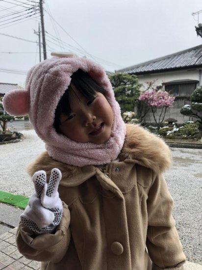 4歳♪雪が降って大はしゃぎのひなぴい(*^▽^*)