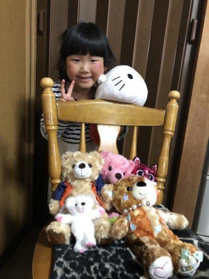4歳♪ぬいぐるみが大好きなひなぴい(*^^*)