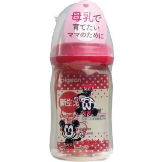母乳実感哺乳瓶 プラスチック製 ミッキー&ミニー柄 160mL 【ピジョン】