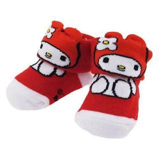 ベビー用靴下 マイメロディ 0~1歳 約7~10cm 【ギフトBOX付】