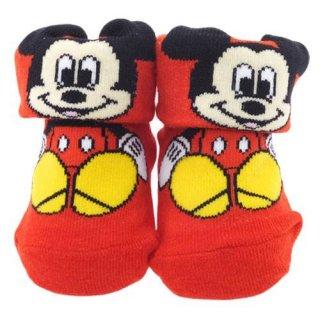 ベビー用靴下 ミッキーマウス 0~1歳 約7~10cm 【ギフトBOX付】