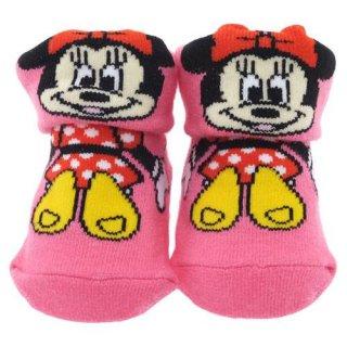 ベビー用靴下 ミニーマウス 0~1歳 約7~10cm 【ギフトBOX付】