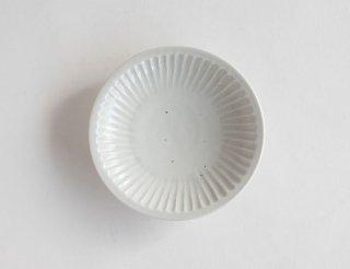 白磁鎬四寸皿