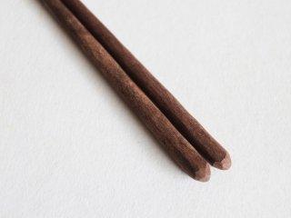 ろう磨き削り黒檀箸 大