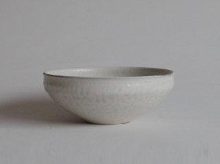 白灰釉粉引中鉢