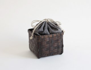 市松漆旅茶籠(正)