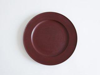 赤漆リム皿