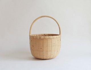 竹かご 丸 小