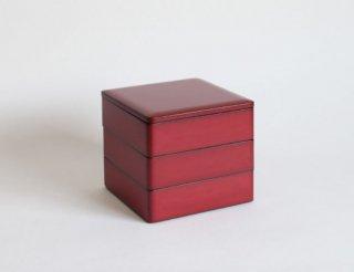 重箱5.5寸 三段 朱