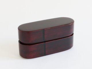 曲輪7寸弁当箱(二段)  木地溜
