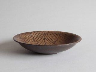 鉄絵八寸平鉢