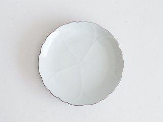 白磁口紅桜8寸皿