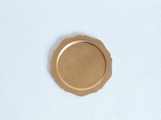 真鍮トレイ輪花皿S