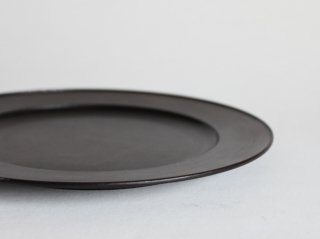 黒漆リム皿 φ270