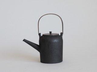 古銀彩土瓶