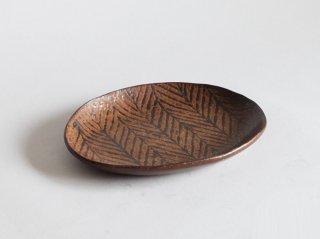 鉄絵オーバル皿 中