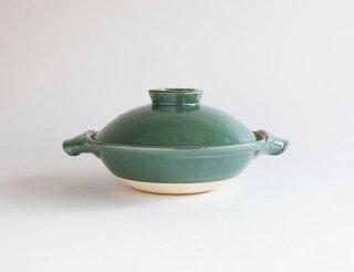 青磁釉土鍋